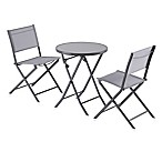 3-Piece Grey Sling Bistro Set