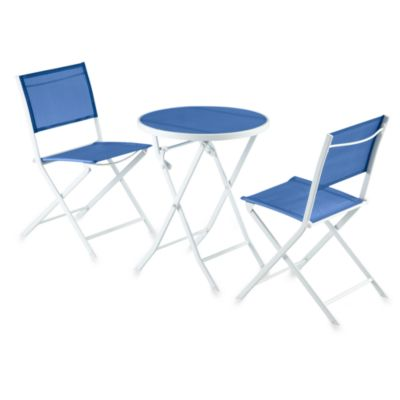 3-Piece Blue Sling Bistro Set