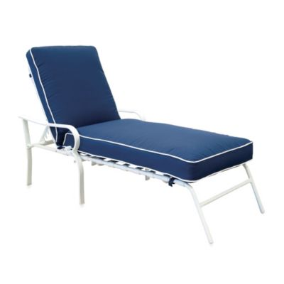 Hawthorne Padded Chaise Lounge in Blue