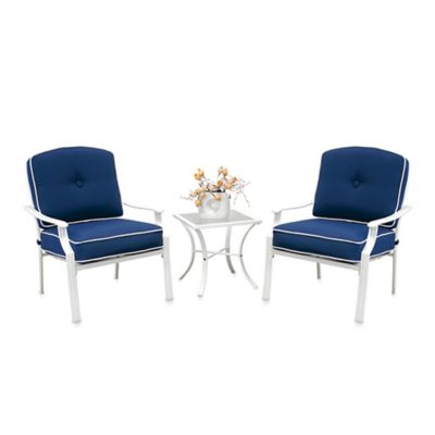 Hawthorne 3-Piece Deep Seating Chair Set in Blue