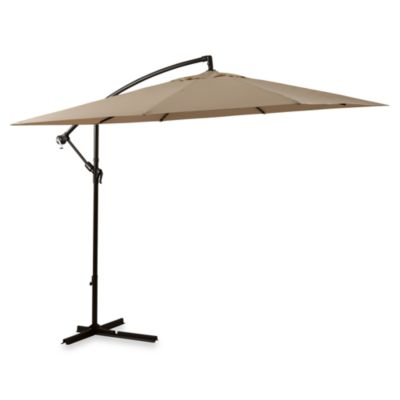 8-Foot Square Cantilever Umbrella in Natural