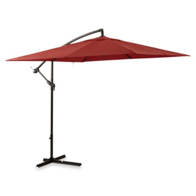 11-Foot Square Umbrella in Salsa with Offset Steele Frame
