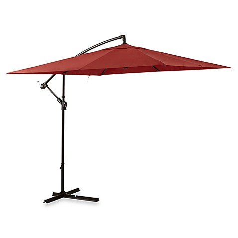 8 Foot Square Cantilever Umbrella In Salsa Bed Bath Amp Beyond