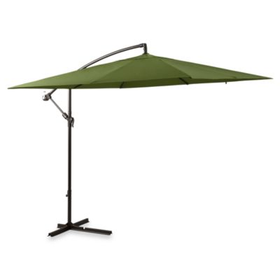 11-Foot Square Umbrella in Olive with Offset Steele Frame