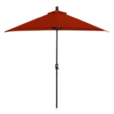 9-Foot Half Round Aluminum Umbrella in Salsa