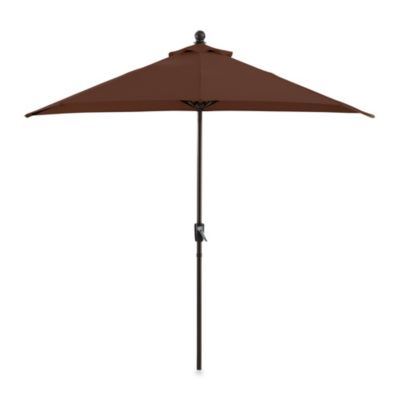 9-Foot Half Round Aluminum Umbrella in Chocolate