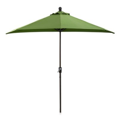 9-Foot Half Round Aluminum Umbrella in Fern
