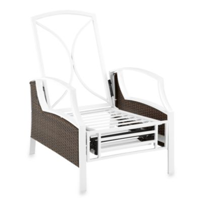 Mix & Match Stratford Wicker Recliner Frame in White/Brown