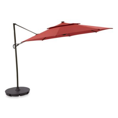 11-Foot Round Solar Cantilever Umbrella in Salsa