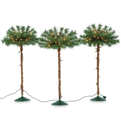 Outdoor Lighted Pathway Trees