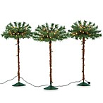 Pre-Lit Pathway Palm Tree (Set of 3)
