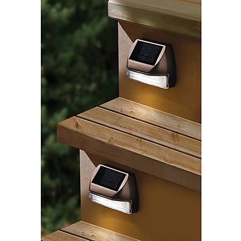 buy moonrays solar mini deck step light from bed bath beyond