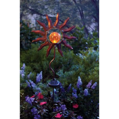 Solar Burnished Sun Garden Stake