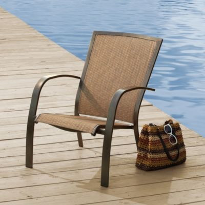 Courtyard Creation Woodfield Collection Patio Adirondack Chair Sling (Set of 2)