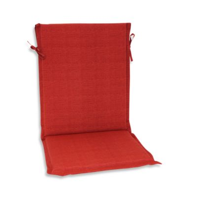 Outdoor Sling Back Chair Cushion in Cherry
