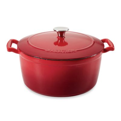 Sabatier® 5.5-Quart Porcelain Cast Iron Dutch Oven in Red