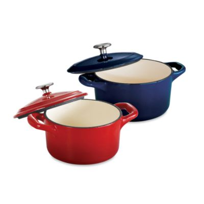 Tramontina® Gourmet Cast Iron Series 1000 10.5-Ounce Covered Mini Cocotte in Red