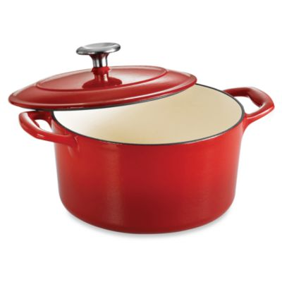 Tramontina® Gourmet Cast Iron Series 1000 3.5-Quart Covered Round Dutch Oven in Red