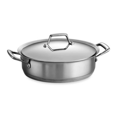 Tramontina® Gourmet Prima 5-Quart Stainless Steel Covered Casserole