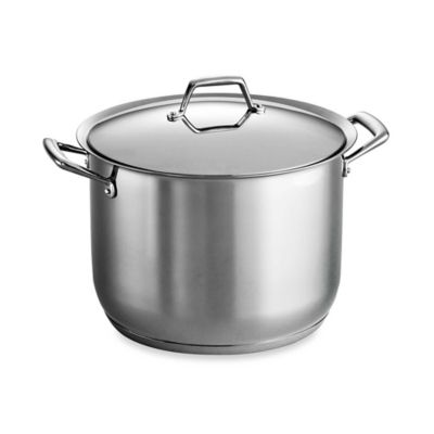 Tramontina® Gourmet Prima 12-Quart Covered Stockpot in Stainless Steel