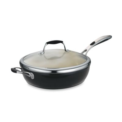 Tramontina® Gourmet Ceramica Deluxe Porcelain Enamel 11-Inch Covered Deep Skillet