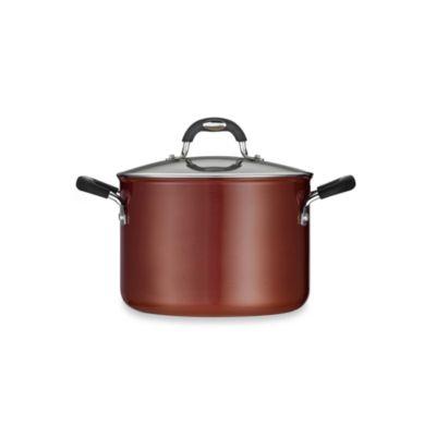 Tramontina® Style Ceramica Porcelain Enamel 6-Quart Covered Sauce Pot