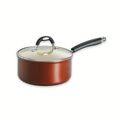 Tramontina® Style Ceramica Porcelain Enamel 3-Quart Covered Saucepan