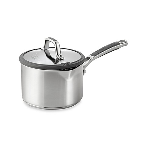 Simply Calphalon® Easy System™ Stainless Steel 2.5-Quart Covered Saucepan