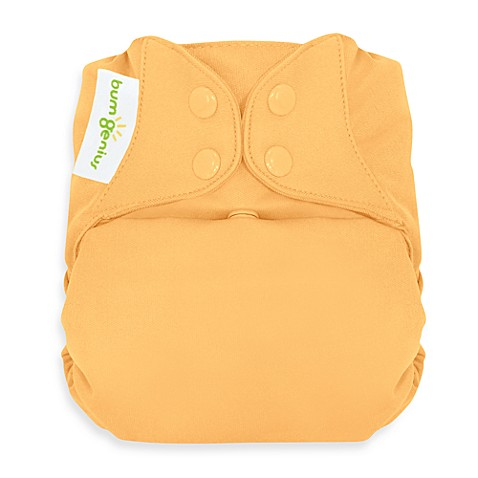 bumGenius™ Freetime Cloth Diaper with Snap Closures in Clementine