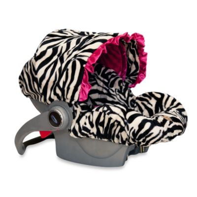 Baby Bella Maya™ Infant Car Seat Cover in Zoe Zebra
