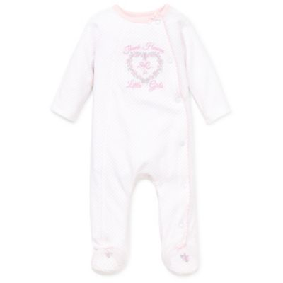 Little Me® Size Newborn Thank Heavens Footie in Light Pink