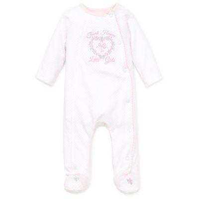 Little Me® Size Preemie Thank Heavens Footie in Light Pink