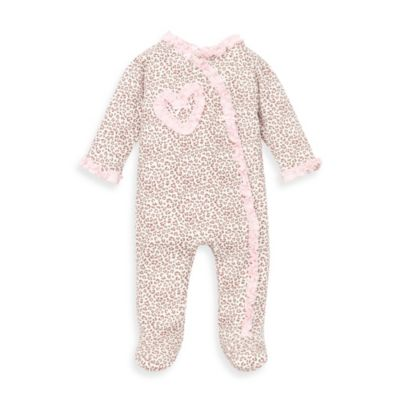 Little Me® Size Newborn Baby Leopard Pink Print Footie