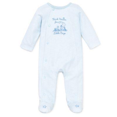 Little Me® Size Newborn Thank Heavens Footie in White/Skylight Blue