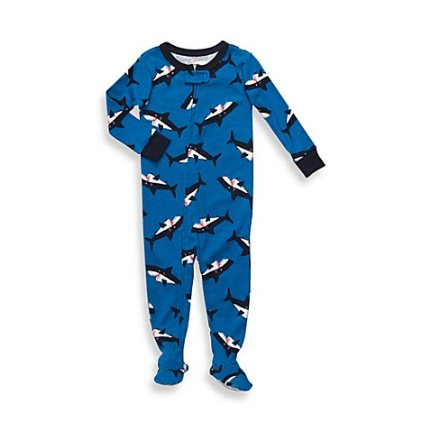 Carter's® Blue Shark Snug-Fit Cotton 1-Piece PJ - 12 Months
