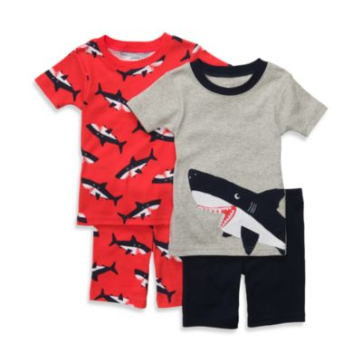 Carter's® Red Shark Snug-Fit Cotton 4-Piece PJs