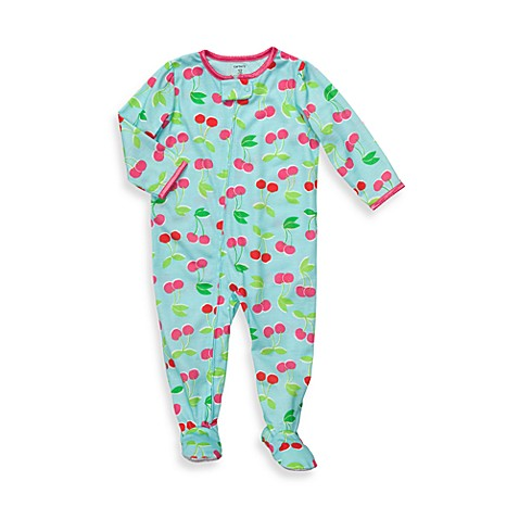 Carter's® Turquoise Cherry Snug-Fit Jersey 1-Piece PJ