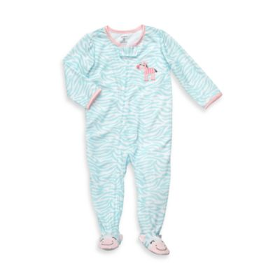 Carter's® Blue Zebra Snug-Fit Jersey 1-Piece PJ