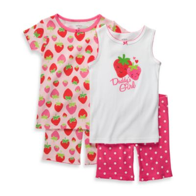 Carter's® Red Berry Snug-Fit Cotton 4-Piece PJs