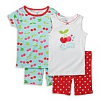 Carter's® Turquoise Cherry Snug-Fit Cotton 4-Piece PJs