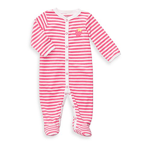 Carter's® Pink Berry Terry Snap-Up Sleep & Play