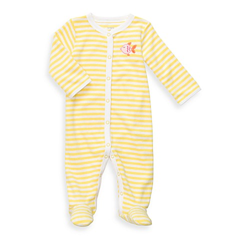 Carter's® Yellow Stripe Terry Snap-Up Sleep & Play