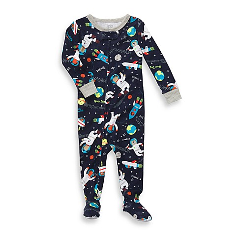 Carter's® Navy Rocket Snug Fit Cotton 1-Piece PJ - 12 Months