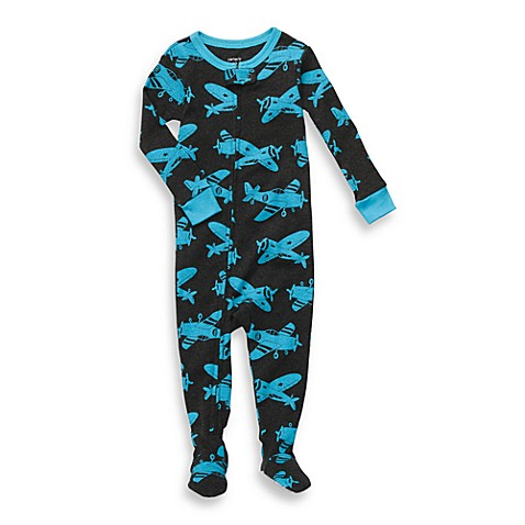 Carter's® Blue Plane Snug Fit Cotton 1-Piece PJ - 12 Months