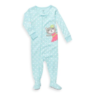 Carter's® Blue Dot Cat Snug Fit Cotton 1-Piece PJ