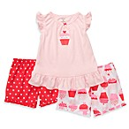 Carter's® Red Cupcake 3-Piece Short PJs