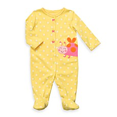 Carter's® Yellow Dot Ladybug Cotton Snap-Up Sleep & Play