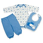 Gerber® Organic 3-Piece Pant Set in Blue Hippo