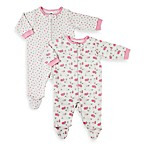 Gerber® Pink Lamb Organic Zip-Up Sleep n Play 2-Pack