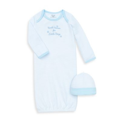 Little Me® Thank Heavens Skylight Blue/White Gown